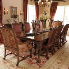 Traditional Dining Room With Oriental Rug