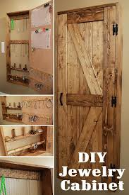 Barn Door Style Used On A DIY Jewelry Cabinet Can Add Rustic Charm To Your Bathroom Or Closet