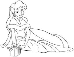 Princess Baby Coloring Pages Mermaid Colouring Cute Little Large Size