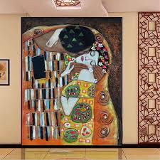 baise dans la chambre personnalisé 3d photo papier peint gustav klimt le baiser papier