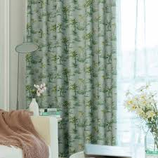 minimalismus vorhang grün kokosnussbaum muster für wohnzimmer