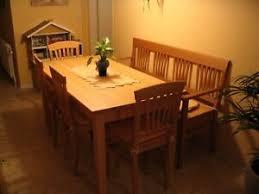 sitzgruppe buche massiv tisch stühle bank küche esszimmer