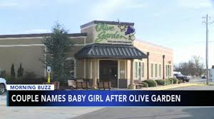 Couple naming first born after Olive Garden