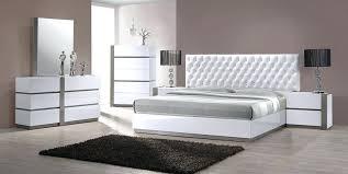Bedroom Sets Contemporary Modern White Tufted Bedroom Set Modern