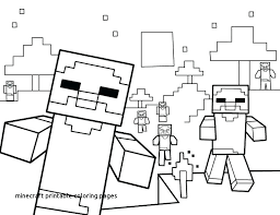 Minecraft Mutant Creeper Coloring Pages Printable At