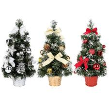 40CM Tall Battery Powered Luxury Tabletop Christmas Tree Hanging Decorations Pine