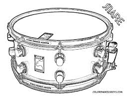 Snare Drum Coloring Sheet At YesColoring