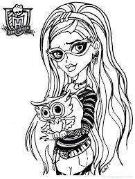 Baby Monster High Dolls Coloring Pages Free Printable
