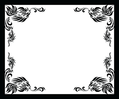Black White Design Border Beautiful Borders And Frames For Projects