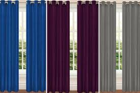 Faux Silk Eyelet Curtains by Faux Silk Eyelet Curtains 9 Colours U0026 5 Sizes