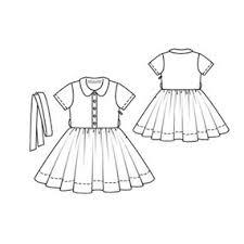Girls Dress With Full Skirt 6 2010 146