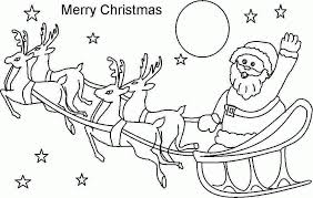Printable Santa Coloring Pages 16 Pictures