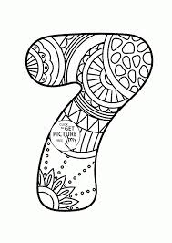 Pattern Number 7 Coloring Pages For Kids Counting Numbers Printables Free