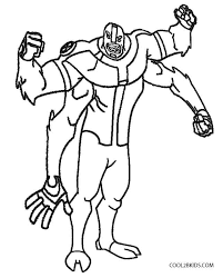 Ben 10 Four Arms Coloring Pages