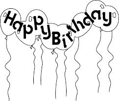 Birthday black and white happy birthday clipart black and white 5