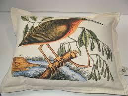 newport luxury luxe bird designer throw pillow multi color feather