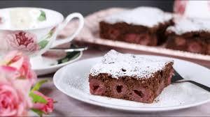 saftiger schoko kirsch kuchen becherkuchen schneller einfacher backanfänger kuchen