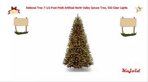 Ge Slim Artificial Christmas Trees by National Tree 7 1 2 Foot Prelit Artificial North Valley Spruce