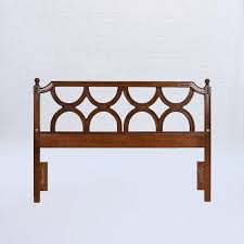Half Circle Outdoor Furniture by Modern Wood Bed Headboard With Half Circle Design Vntghome Com