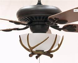 antler ceiling fan light with glass shades modern ceiling design
