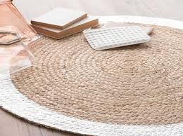 tapis rond chambre tapis tapis jute unique tapis rond en jute naturelargentae cm