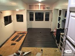 Fifth Wheel Campers With Front Living Rooms by Our Fifth Wheel Mid Renovation Tour Wheeled And Free