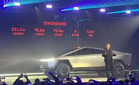 100 Ups Truck Dimensions Tesla Unveils Its Cybertruck With A Price Starting At