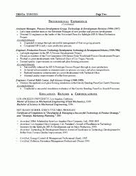 Manufacturing Manager Resume Example