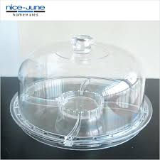 cake dish with cover clear acrylic stand dome unbreakable tray lid cake dish with cover