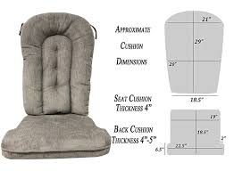 Replacement Cushion Set Glider Rocker, Grey Color