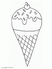 Printable Ice Cream Coloring Pages Free Cones