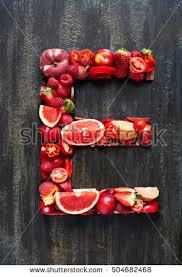 Fruit Alphabet Stock Royalty Free & Vectors