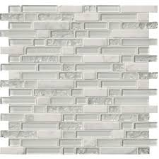 6 X 12 Glass Subway Tile by Ms International Delano Blanco 12 In X 12 In X 6 Mm Glass Stone