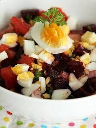 cuisiner des betteraves recette de salade de betteraves à l oeuf dur la recette facile