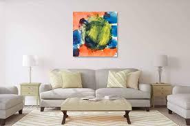 acrylbild orange grün blau abstrakte acrylbilder malen lassen
