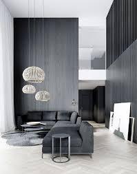 gray minimalist living room design innenarchitektur