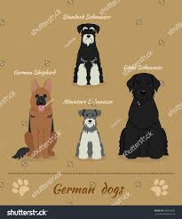 German Shepherd Pumpkin Stencils Free by Set German Dogs Vector Illustration Four Stock Vector 400623406