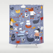 pink Pirate shower curtain Pirate Shower Curtain For Kids
