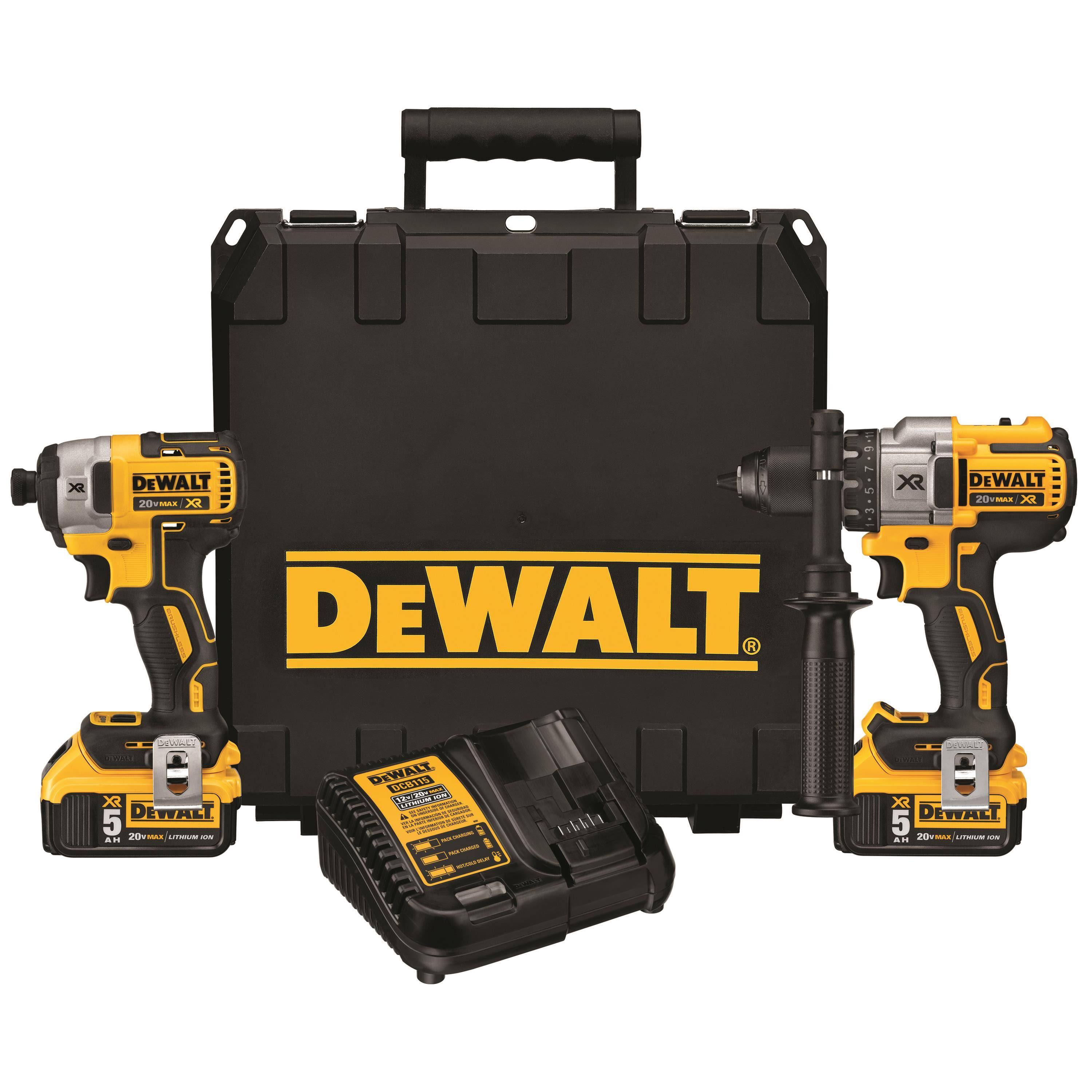 Dewalt DCK299P2 Brushless Hammerdrill and Impact Driver Kit - 20V Max Li-Ion