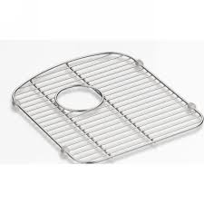 Kohler Sink Grid Stainless Steel by Kohler K 5180 St Langlade Stainless Steel Basin Racks U0026 Sink Grids