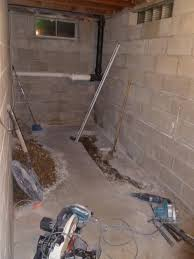 Basement Bathroom Ejector Pump Floor by Three Things Very Dull Indeed Basement Bathroom Project