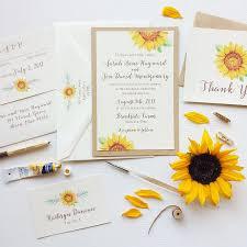 Rustic Boho Sunflower Wedding Invitation
