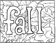 Printable Fall For Kids Coloring Pages Autumn And
