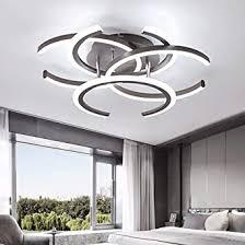 led unterputz deckenleuchte mit 4 licht moderne deckenpendelleuchte für schlafzimmer wohnzimmer esszimmer küche