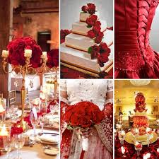 Red And Gold Wedding Inspiration By