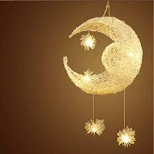 lustre chambre d enfant egomall le en aluminium suspension de lune et étoiles lustre