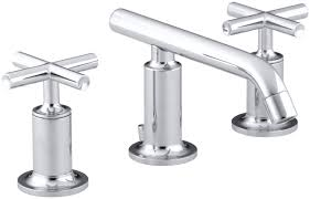 Kohler Purist Bathroom Faucet Gold by Kohler Purist Widespread Bathroom Sink Faucet With Low Cross