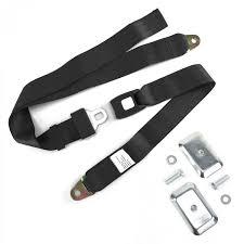 100 Truck Belt 2pt Black Standard Buckle Lap Seat With Flat Plate Hardware