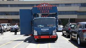Amazon's Treasure Truck Sells Deals Out Of The Back Of A Truck