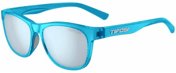 Tifosi Swank Sunglasses - Satin Crystal BLUSH/SMOKE/BLUE